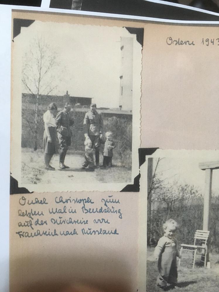 Fig 13 Visit of Uncle Christoph Klausa April 1943